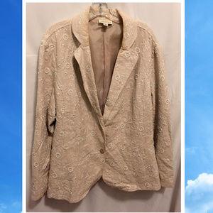 Size 2X Coldwater Creek Blazer Jacket Pretty